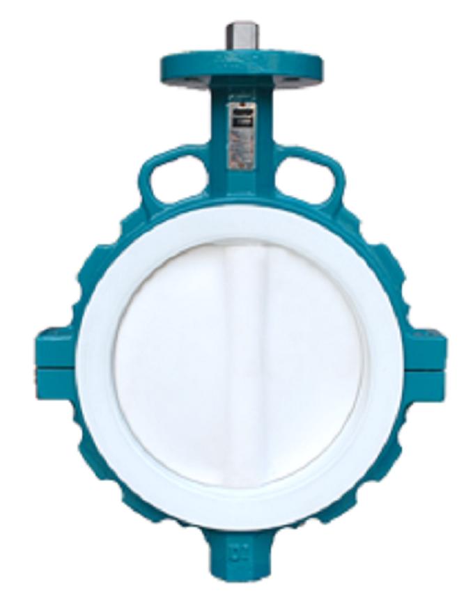 PTFE lined butterfly valve